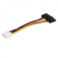 4 PIN IDE/Molex To 2 X 15 Pin SATA