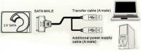 Контроллер USB to HDD SATA